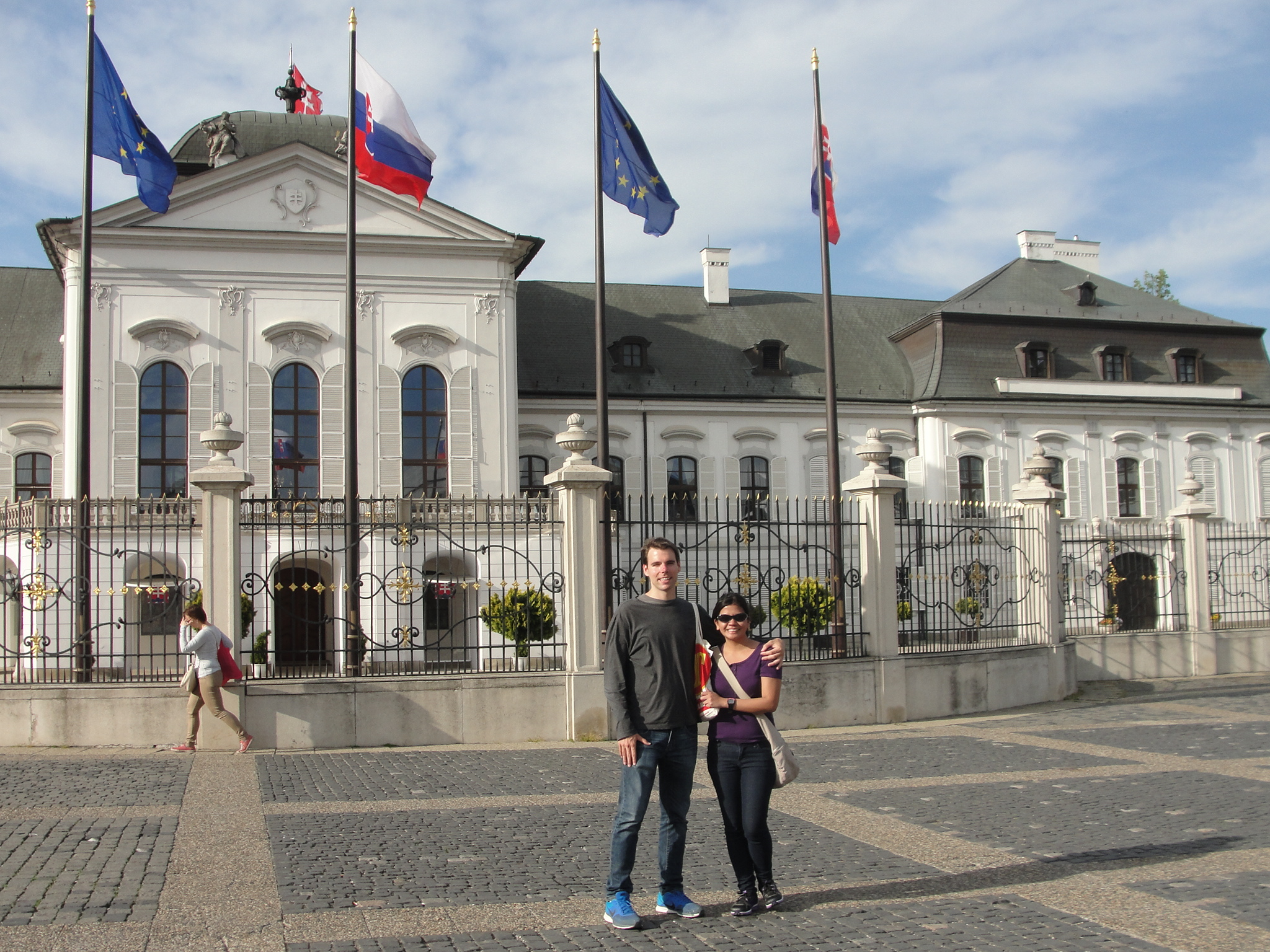Our first day being engaged in Bratislava